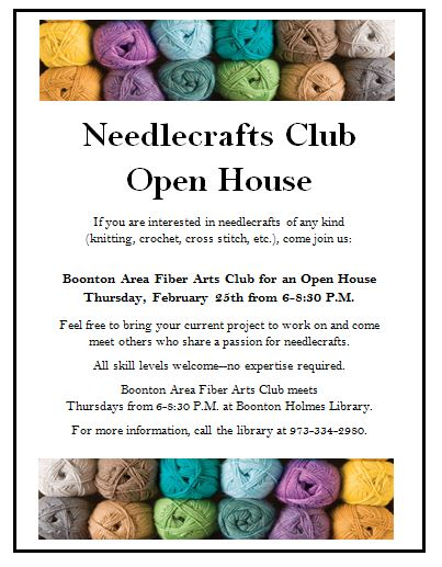 Needlecraft open house